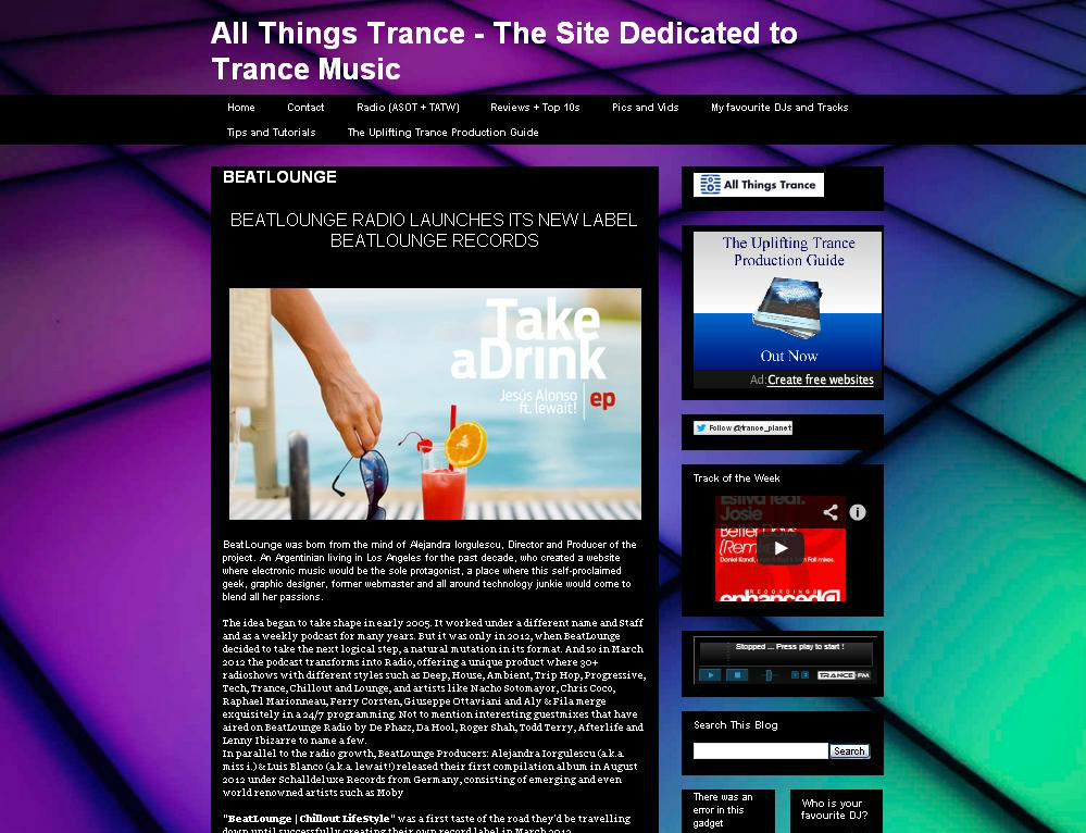 All Things Trance Beat.lounge feature