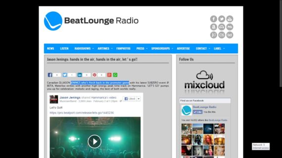 Jason Jenings on Beatlounge Radio